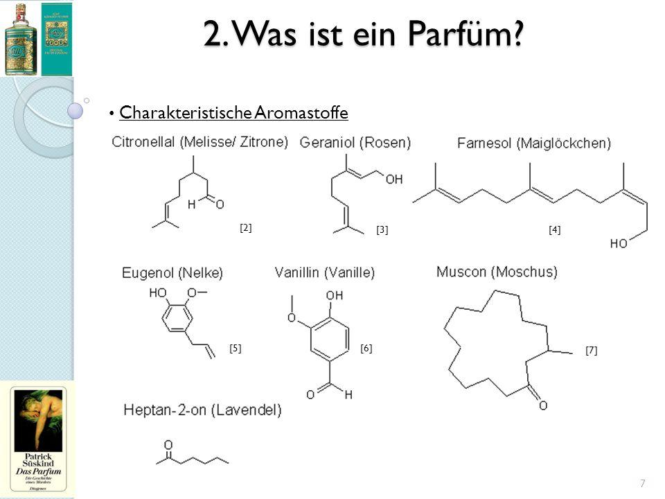 2. Was ist ein Parfüm? Charakteristische Aromastoffe 7 [2] [3][4] [5][6] [7]