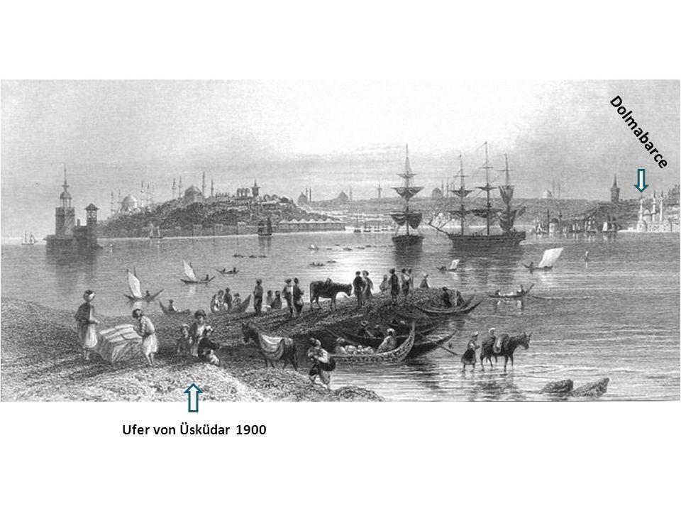 Dolmabarce Ufer von Üsküdar 1900
