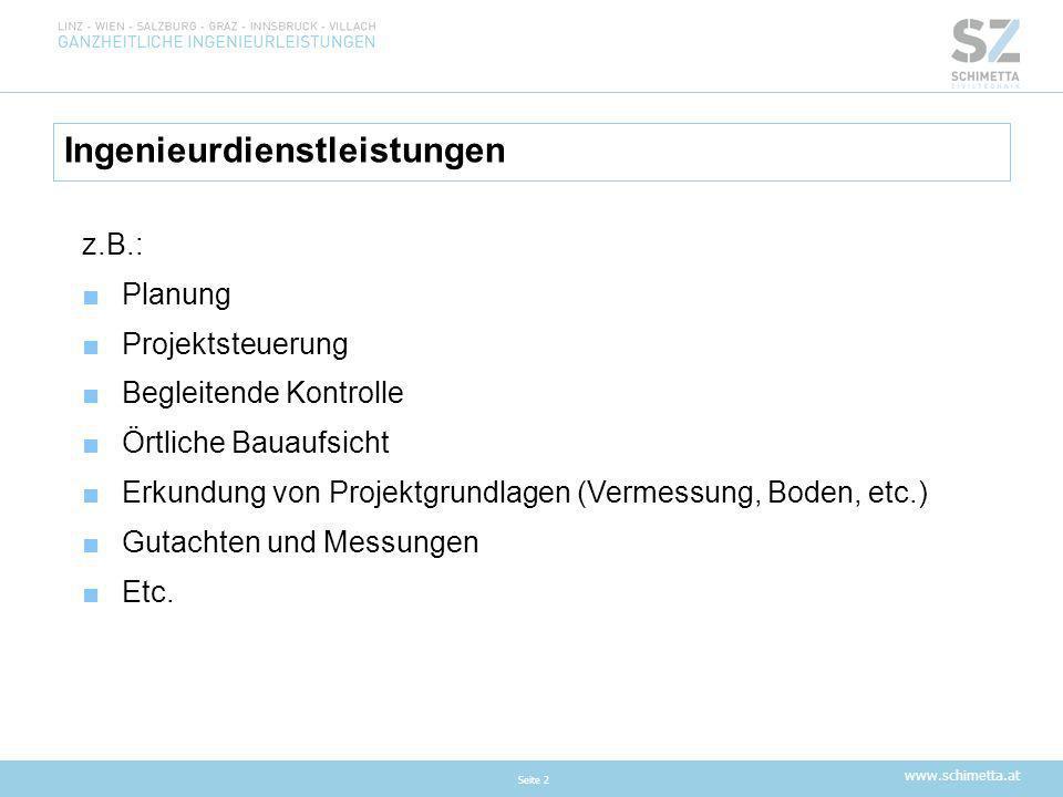 www.schimetta.at Beispiele aus Dienstleistungsvergaben/ Preisspiegel Seite 13