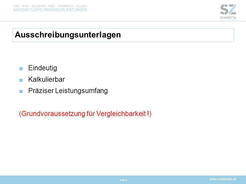 www.schimetta.at Folgen solcher Fehlleistungen bei der Ausschreibung .