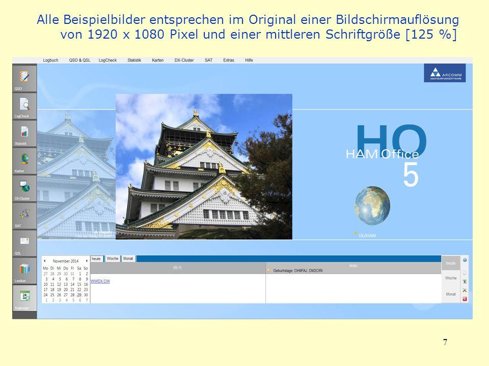 7 Alle Beispielbilder entsprechen im Original einer Bildschirmauflösung von 1920 x 1080 Pixel und einer mittleren Schriftgröße [125 %]