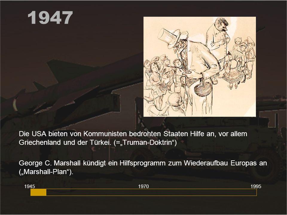 1948 Kommunistischer Umsturz in Prag. (Tschechoslowakei) 194519951970