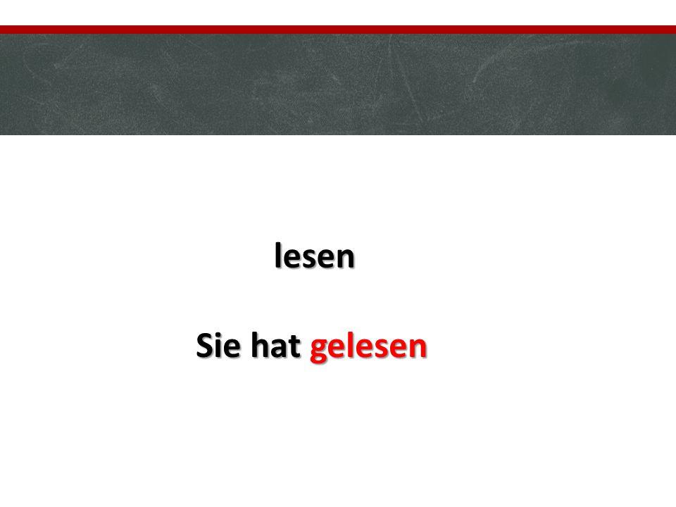 4) Le choix de l'auxiliaire au parfait : Deux auxiliaires sont utilisés au parfait : SEIN HABEN Pour les verbes qui expriment un déplacement.