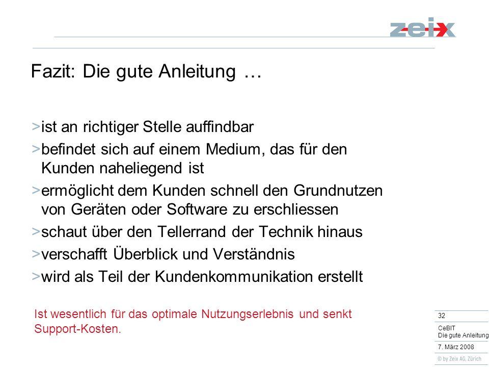 32 CeBIT Die gute Anleitung 7.