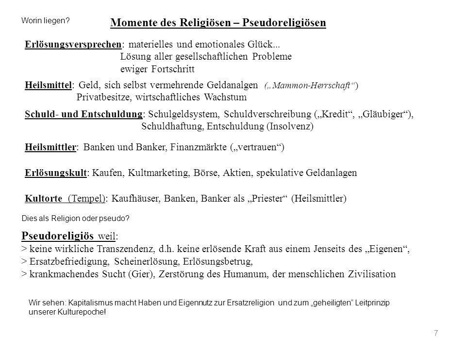28 6.Herausforderungen an Kirchen und Religionen .
