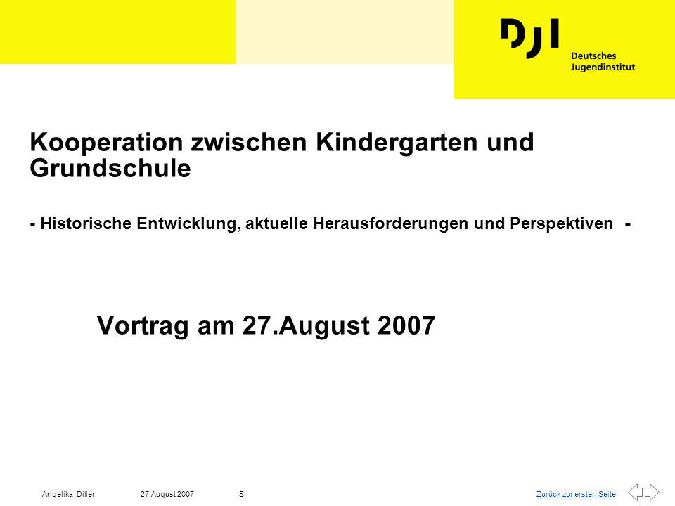 Zurück zur ersten Seite27.August 2007Angelika DillerS Gliederung l 1.