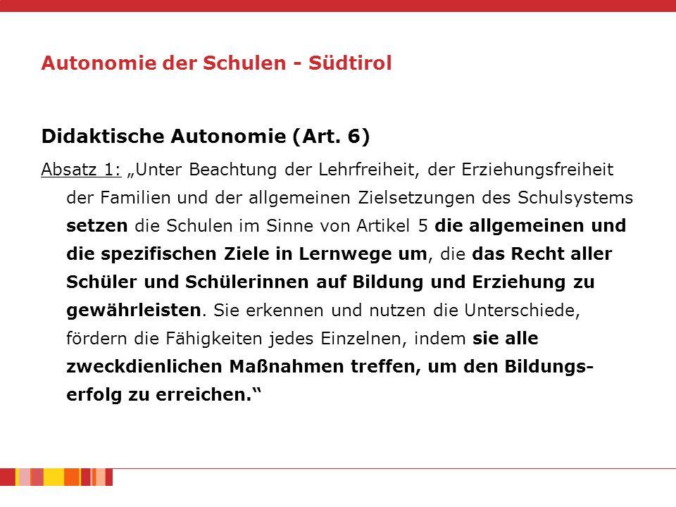 Didaktische Autonomie (Art.