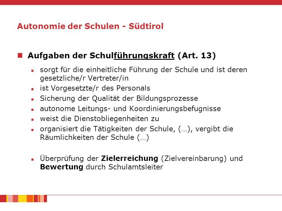 Aufgaben der Schulführungskraft (Art.