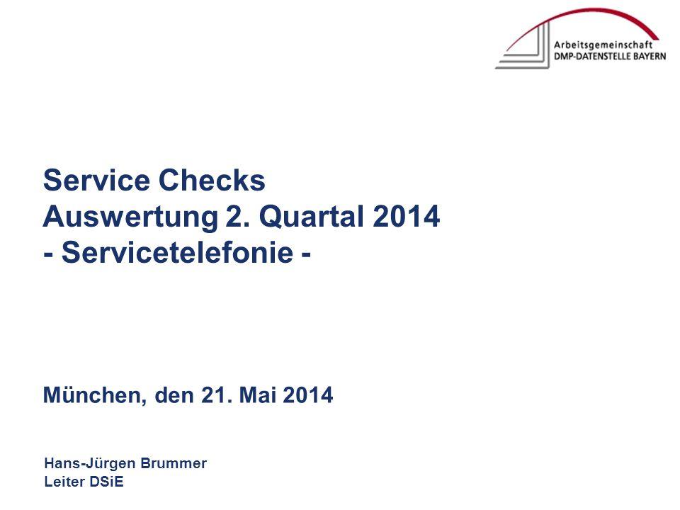 Hans-Jürgen Brummer Leiter DSiE Service Checks Auswertung 2.