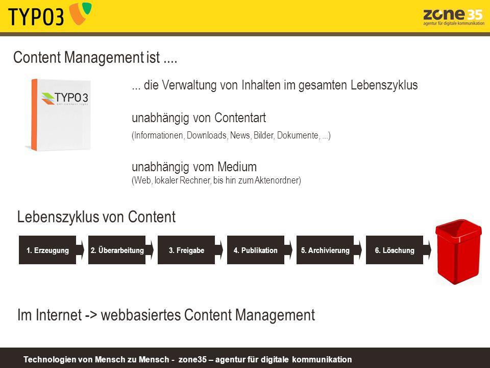 Technologien von Mensch zu Mensch - zone35 – agentur für digitale kommunikation...