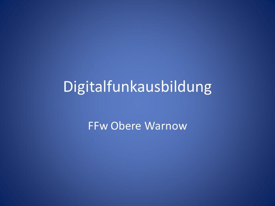 Digitalfunkausbildung FFw Obere Warnow