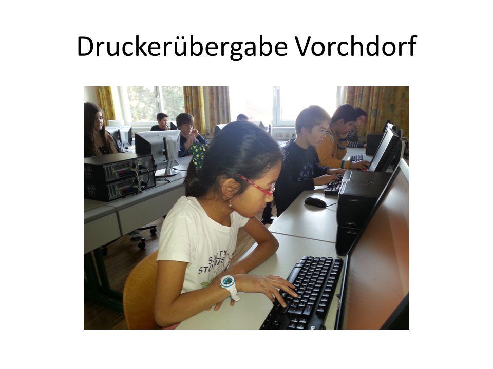 Druckerübergabe Vorchdorf