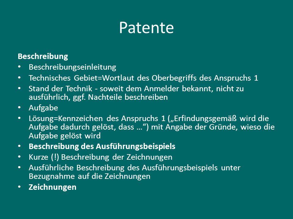 Patente Beschreibung Beschreibungseinleitung Technisches Gebiet=Wortlaut des Oberbegriffs des Anspruchs 1 Stand der Technik - soweit dem Anmelder beka