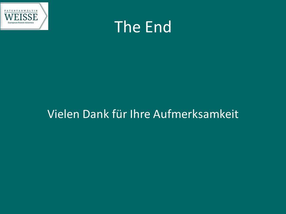 The End Vielen Dank für Ihre Aufmerksamkeit