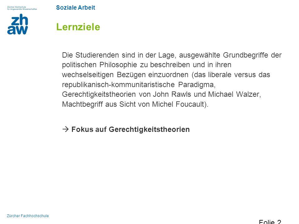 Soziale Arbeit Zürcher Fachhochschule Pflichtlektüre Schaal, Gary S.
