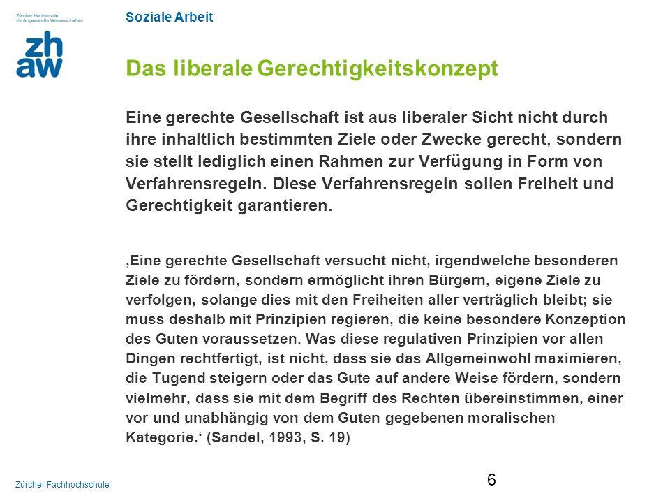 Soziale Arbeit Zürcher Fachhochschule Michael Walzer 1983: Spheres of Justice (dt.