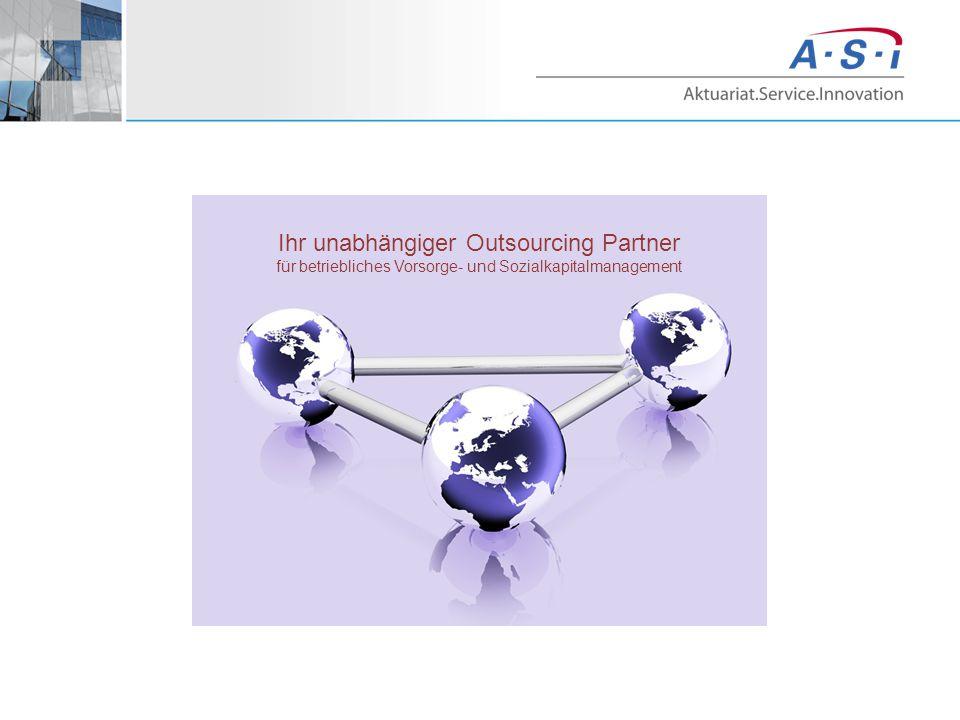 Ihr unabhängiger Outsourcing Partner für betriebliches Vorsorge- und Sozialkapitalmanagement