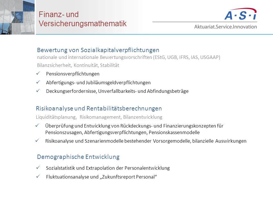 Bewertung von Sozialkapitalverpflichtungen nationale und internationale Bewertungsvorschriften (EStG, UGB, IFRS, IAS, USGAAP) Bilanzsicherheit, Kontin