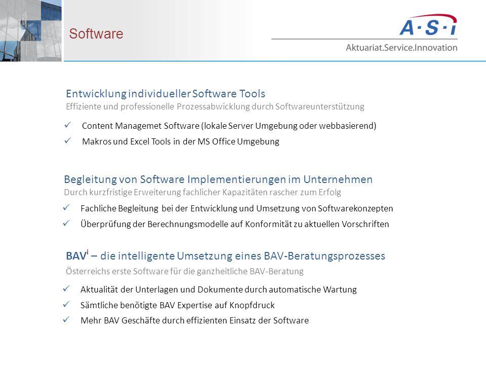 Entwicklung individueller Software Tools Effiziente und professionelle Prozessabwicklung durch Softwareunterstützung Software Content Managemet Softwa