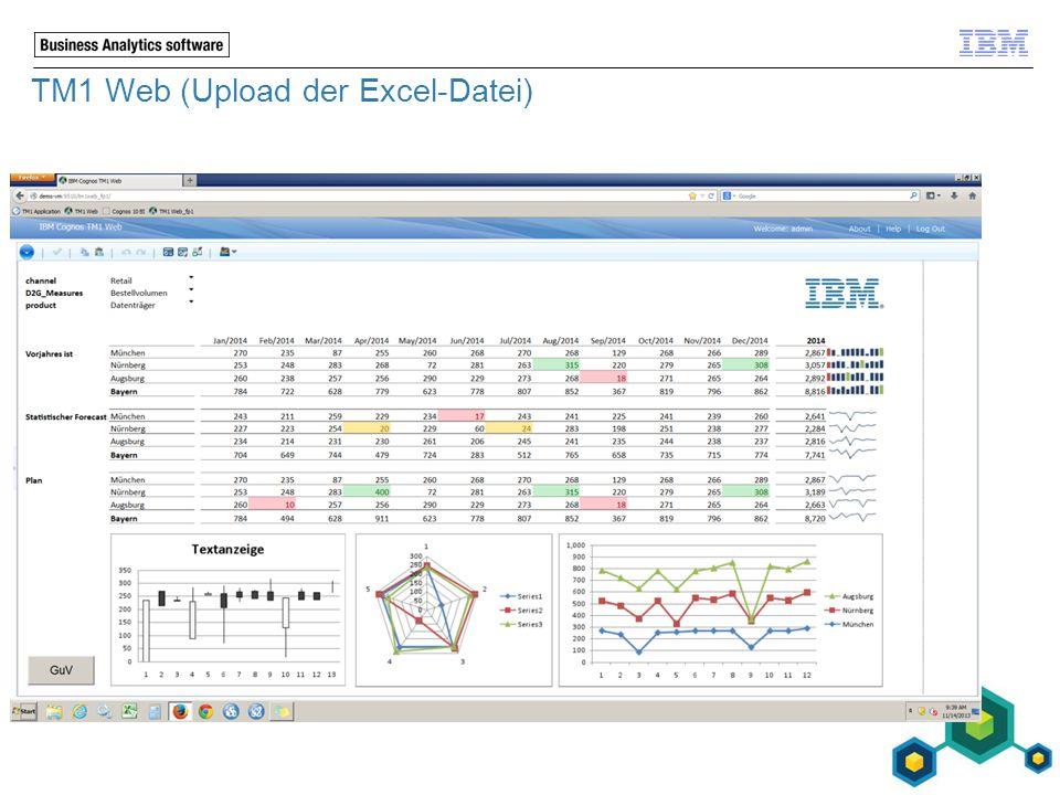 TM1 Web (Upload der Excel-Datei)