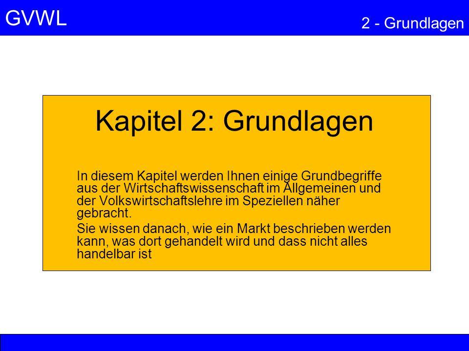 GVWL 2 - Grundlagen 5 - GELD UND PREISE