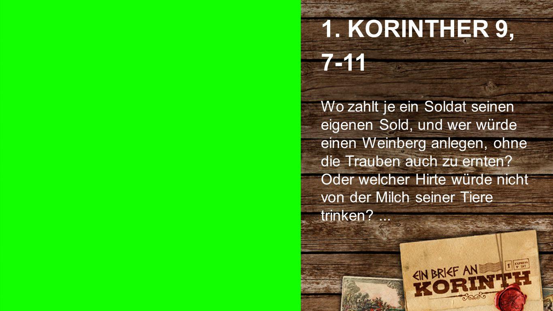 1. Korinther 9, 7-11 a 1.