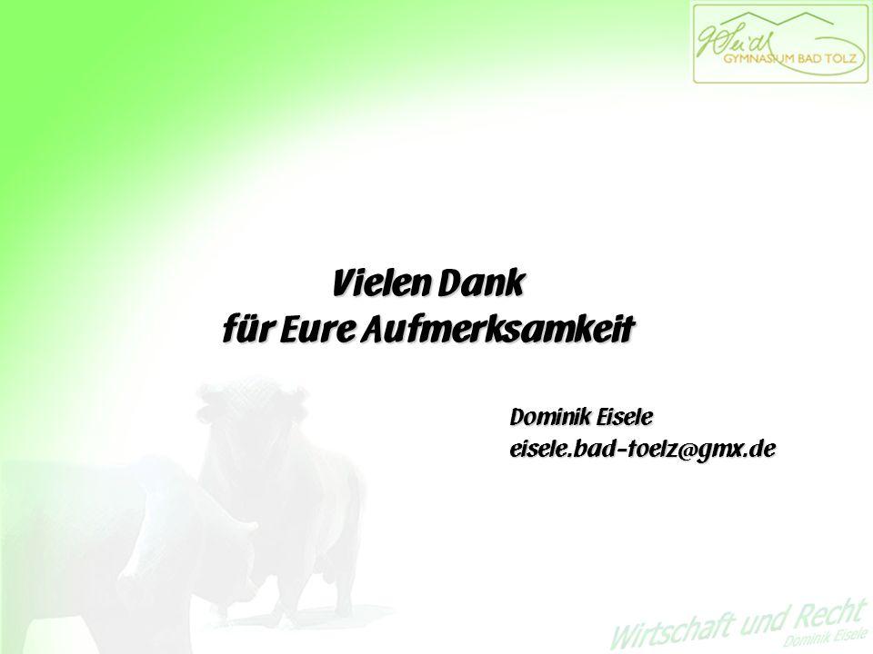 Vielen Dank für Eure Aufmerksamkeit Dominik Eisele eisele.bad-toelz@gmx.de Vielen Dank für Eure Aufmerksamkeit Dominik Eisele eisele.bad-toelz@gmx.de