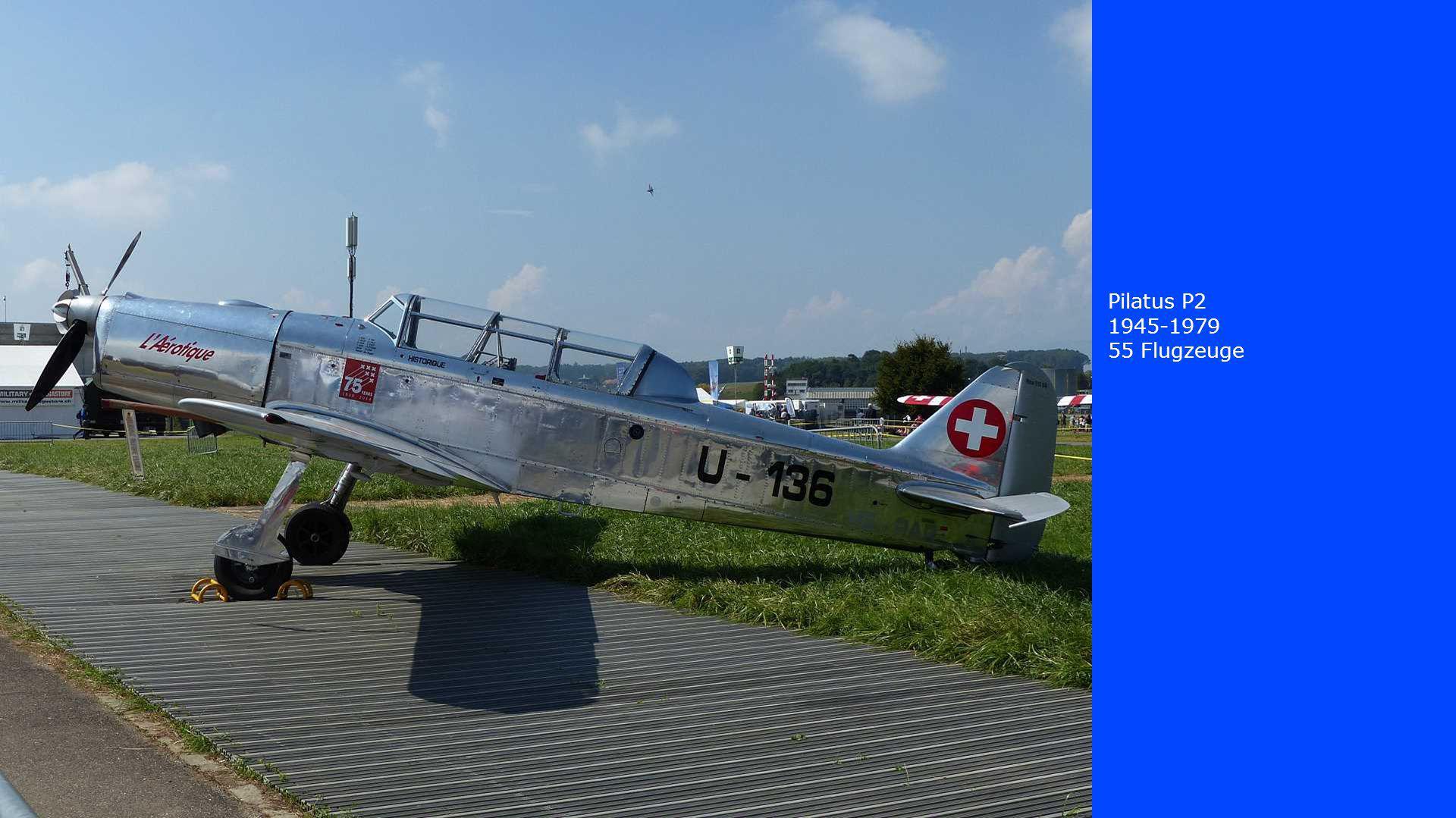 Pilatus P2 1945-1979 55 Flugzeuge