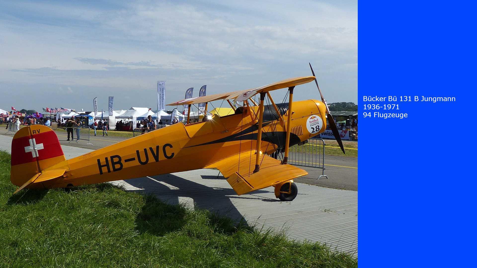 Bücker Bü 131 B Jungmann 1936-1971 94 Flugzeuge