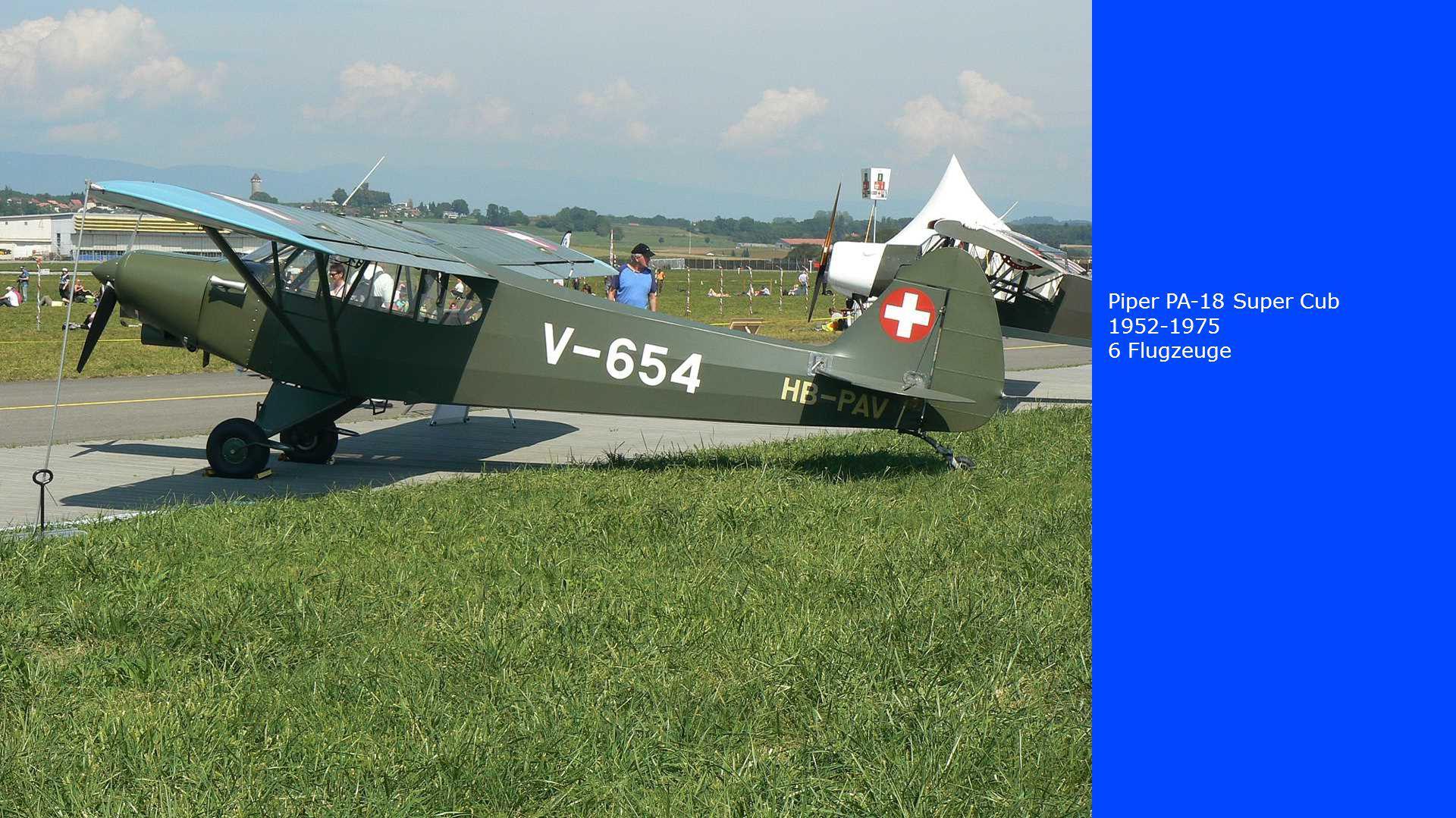 Piper PA-18 Super Cub 1952-1975 6 Flugzeuge