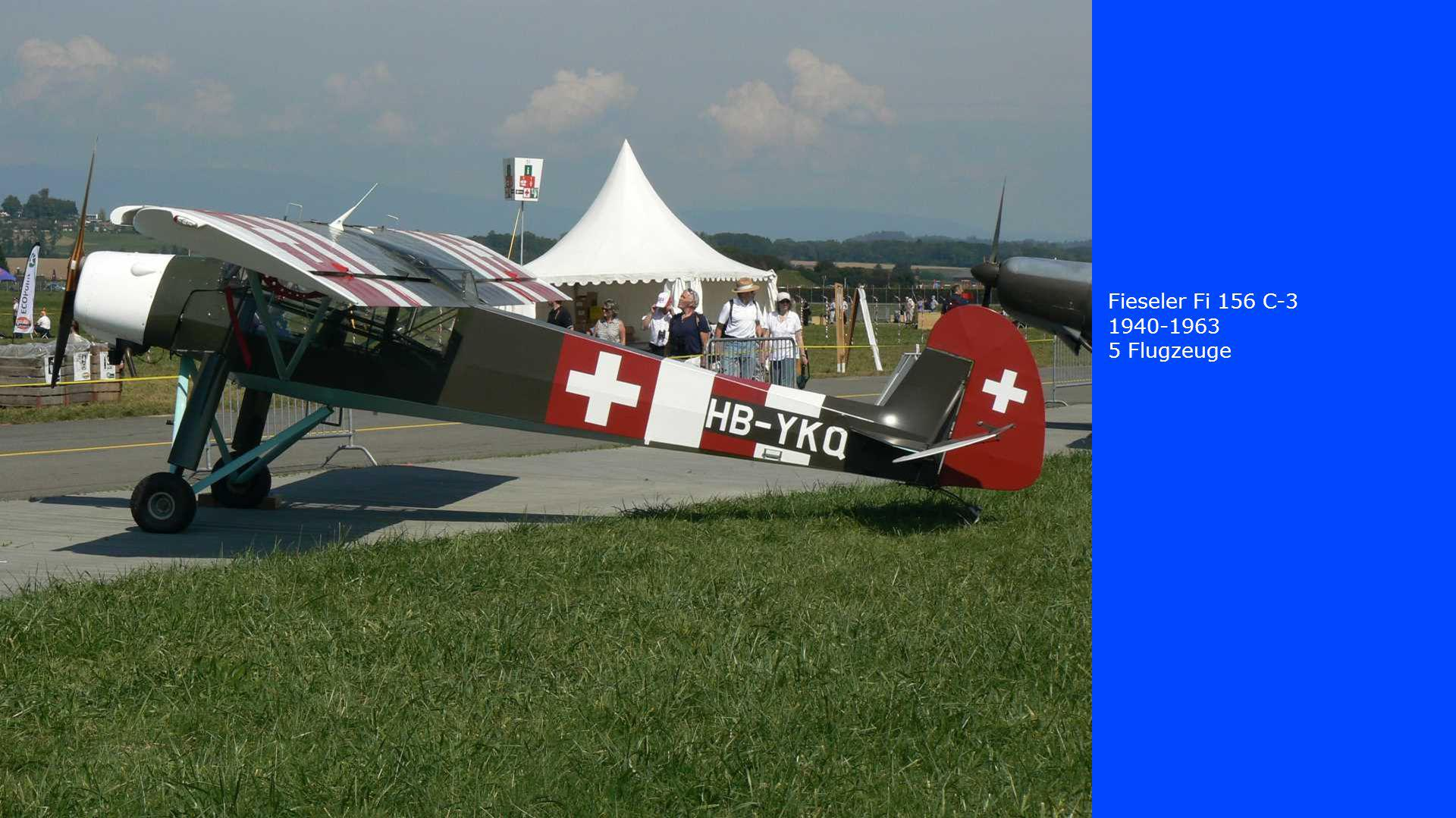 Fieseler Fi 156 C-3 1940-1963 5 Flugzeuge