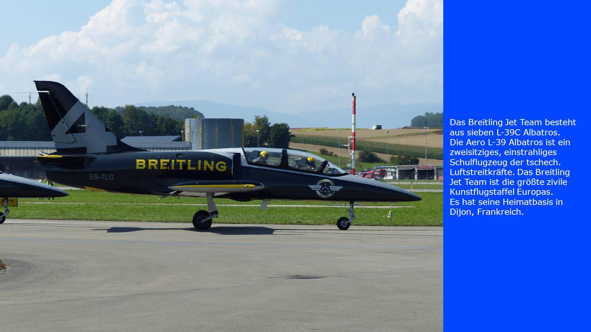 Das Breitling Jet Team besteht aus sieben L-39C Albatros.