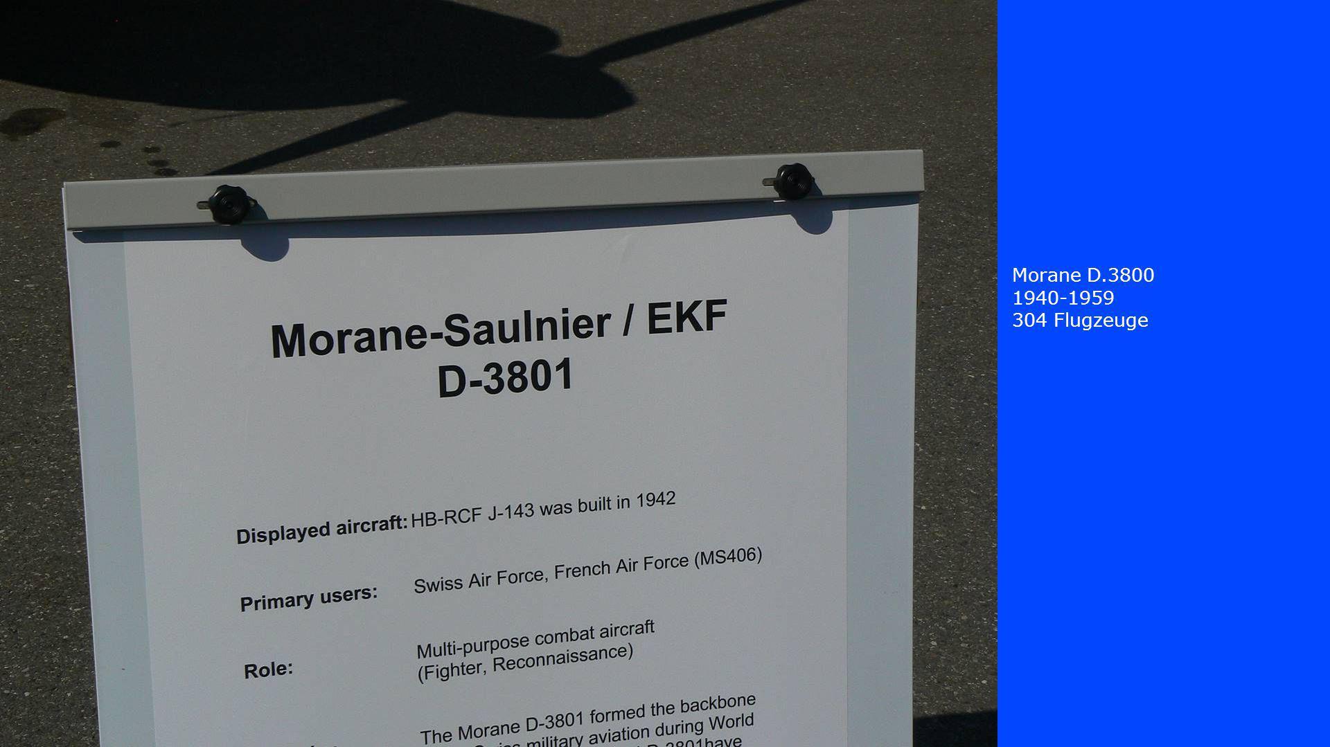 Morane D.3800 1940-1959 304 Flugzeuge