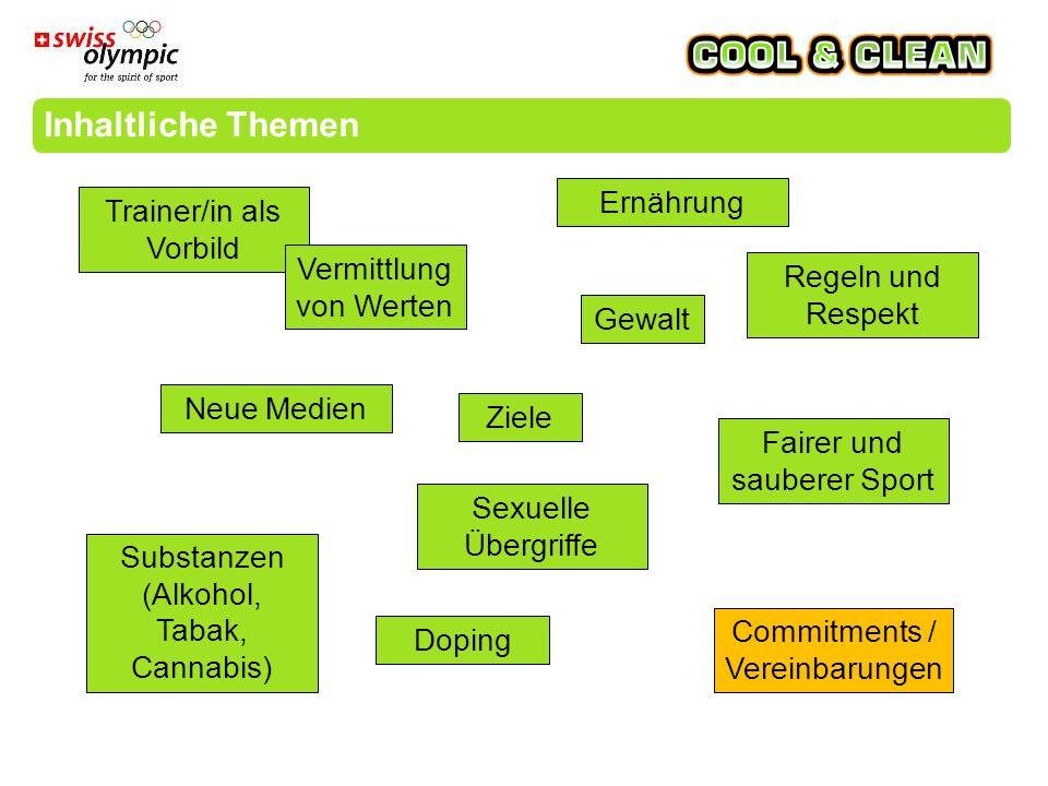 «cool and clean» stellt bei Verstössen ein Interventionsprogramm zur Verfügung.