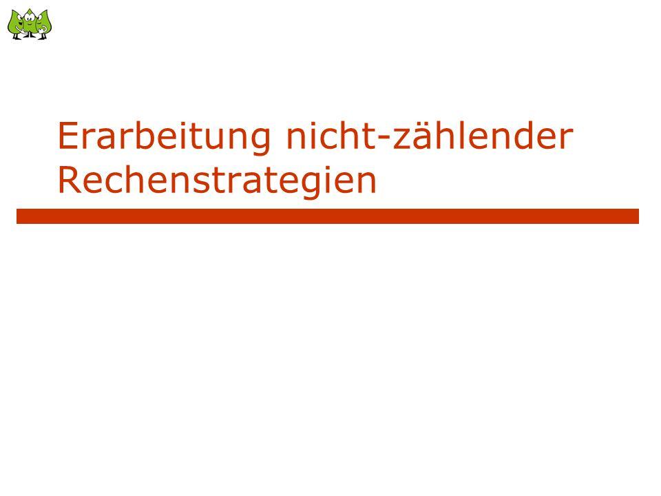 """Auch beim Zahlenzerlegen: Automatisieren in """"Strategiegruppen 8 1 Gruppe """"1 und ? : 10 1 7 1 4 1 usw."""