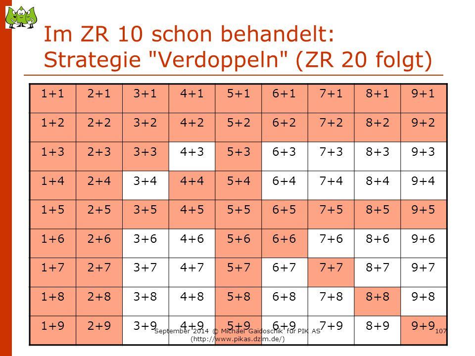 Im ZR 10 schon behandelt: Strategie