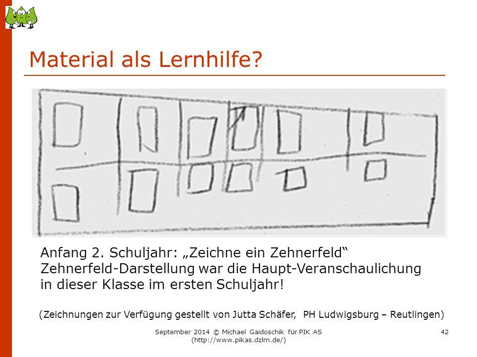 """Material als Lernhilfe? (Zeichnungen zur Verfügung gestellt von Jutta Schäfer, PH Ludwigsburg – Reutlingen) Anfang 2. Schuljahr: """"Zeichne ein Zehnerfe"""