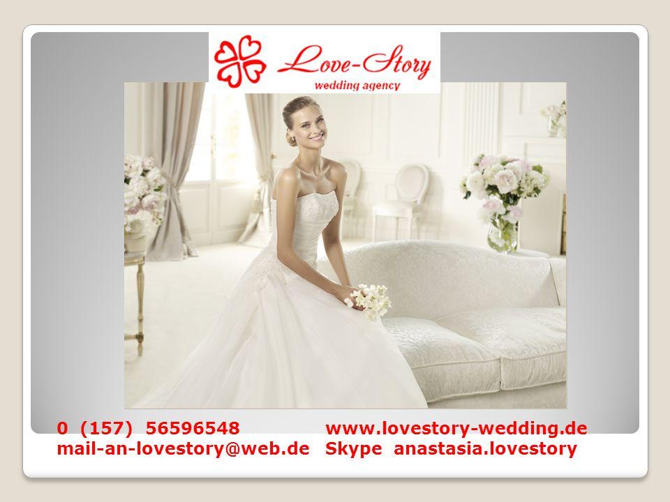 Ich heiße Ritter Anastasia Ich beschäftige mich ausschließlich mit der Organisation und Planung der Hochzeit.