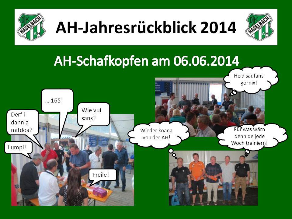 AH-Jahresrückblick 2014 Lumpi. Derf i dann a mitdoa.