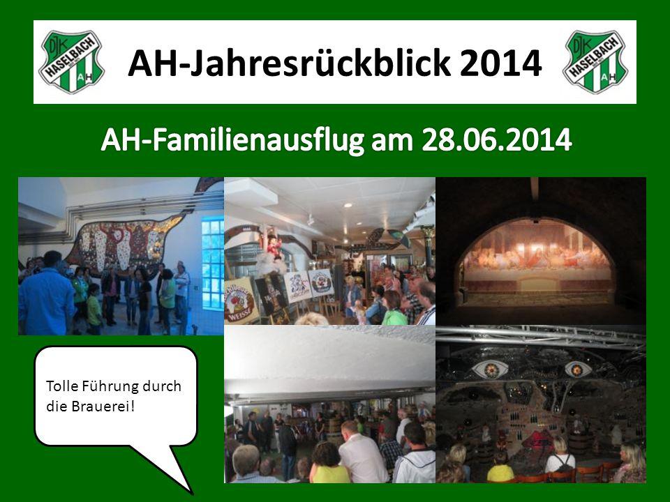 AH-Jahresrückblick 2014 Tolle Führung durch die Brauerei!