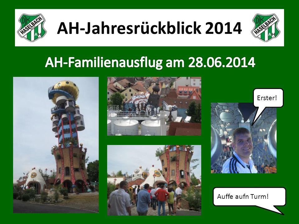 AH-Jahresrückblick 2014 Auffe aufn Turm! Erster!