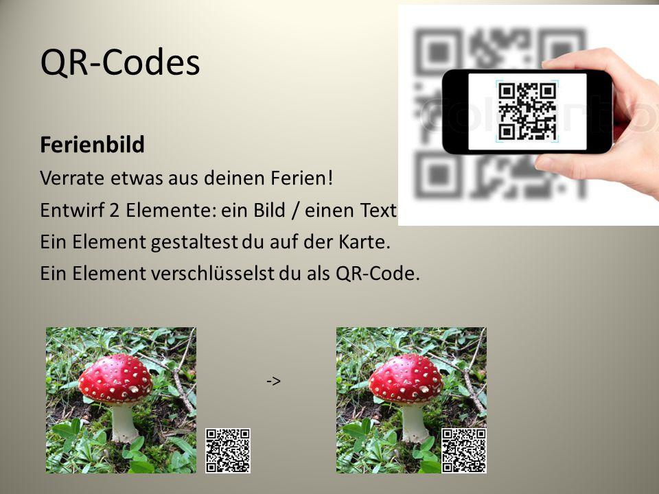 QR-Codes Ferienbild Verrate etwas aus deinen Ferien.
