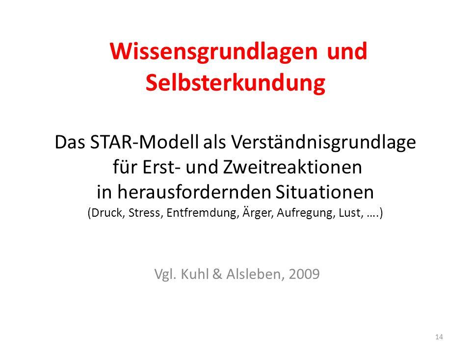 Wissensgrundlagen und Selbsterkundung Das STAR-Modell als Verständnisgrundlage für Erst- und Zweitreaktionen in herausfordernden Situationen (Druck, S