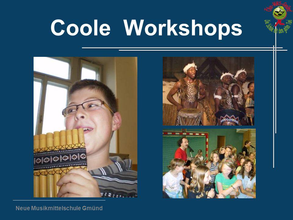 Neue Musikmittelschule Gmünd Coole Workshops