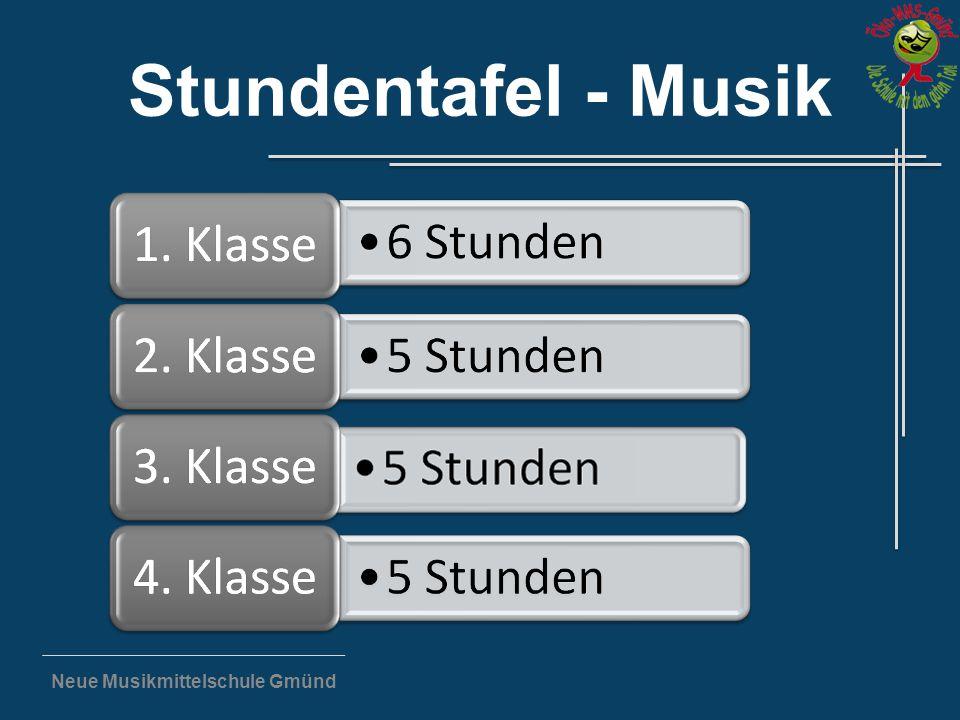 """Neue Musikmittelschule Gmünd """"Kinder, die musizieren, haben keine Zeit zum Traurigsein. (Franz Schubert)"""