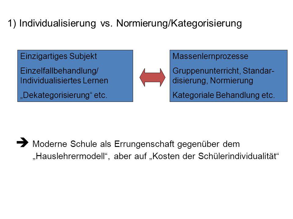 1) Individualisierung vs.