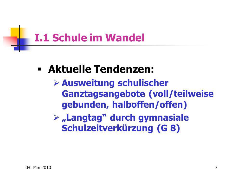 """04. Mai 201018 I.2 Schulsport im Wandel  Das """"blaue Haus der Zukunft?"""