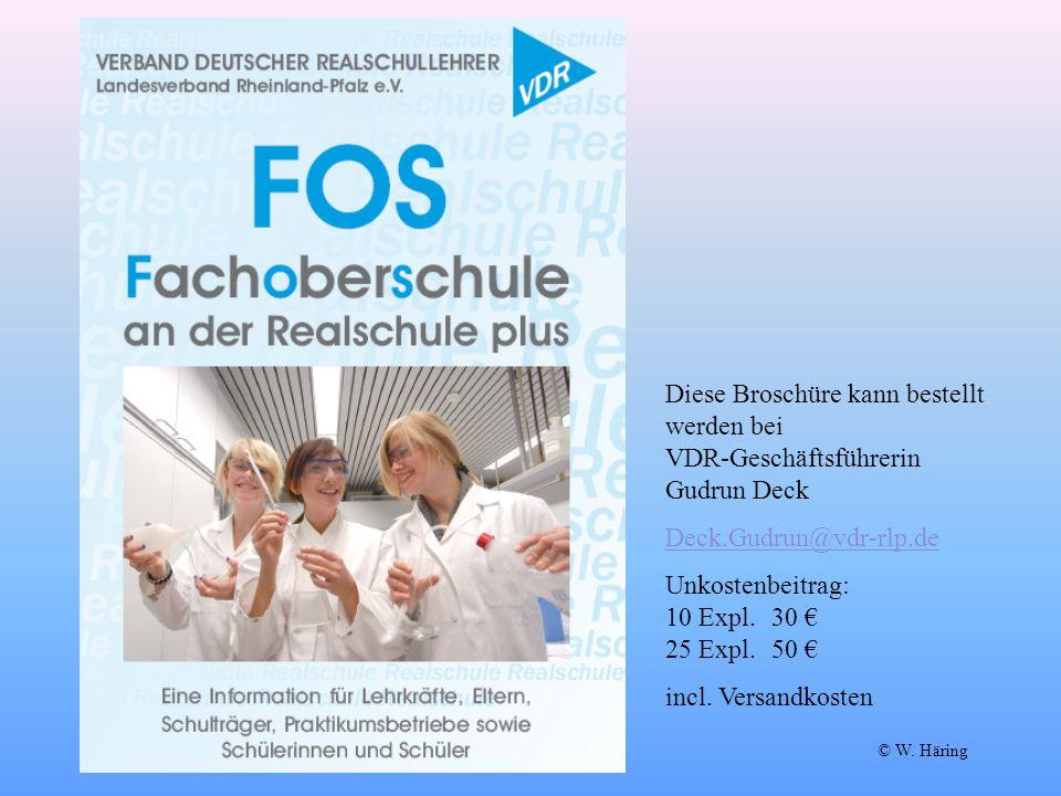 Diese Broschüre kann bestellt werden bei VDR-Geschäftsführerin Gudrun Deck Deck.Gudrun@vdr-rlp.de Unkostenbeitrag: 10 Expl.30 € 25 Expl.50 € incl. Ver
