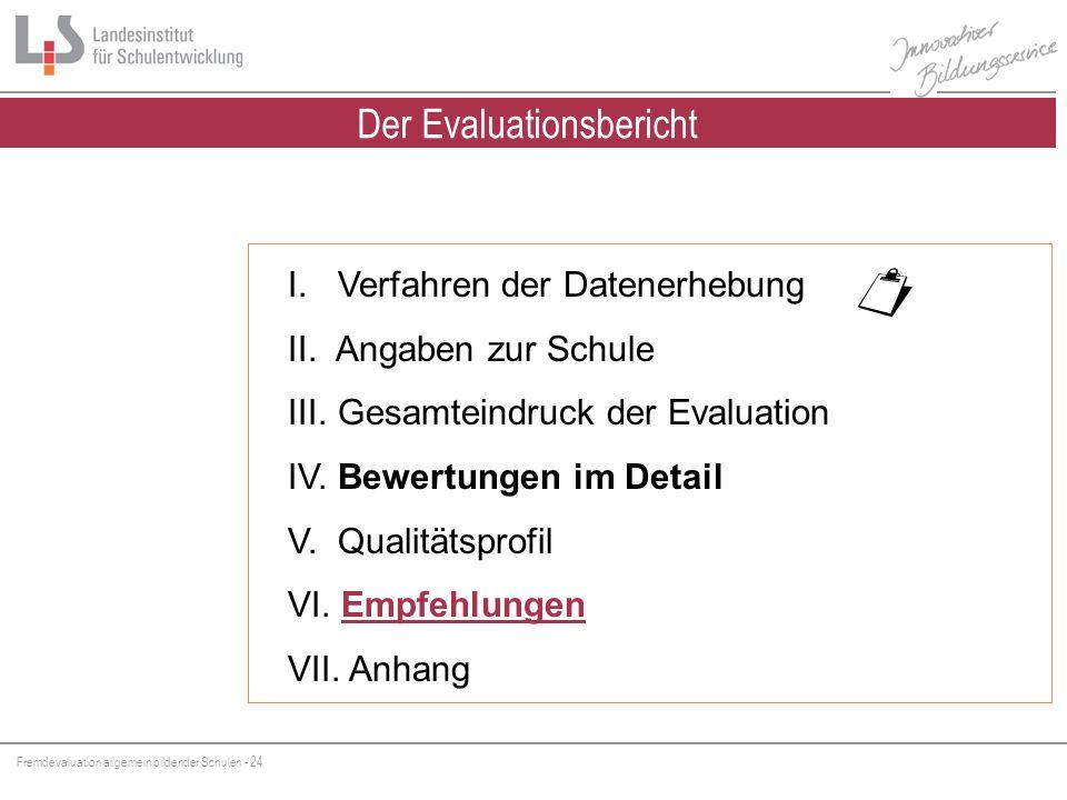 Fremdevaluation allgemein bildender Schulen - 24 I.