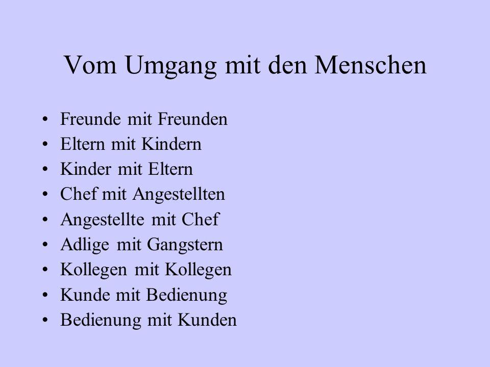 """Oft wird Freiherr von Knigge zitiert für das """"Gute Benehmen"""", er hat aber lediglich ein Buch geschrieben über den Umgang mit den Menschen."""